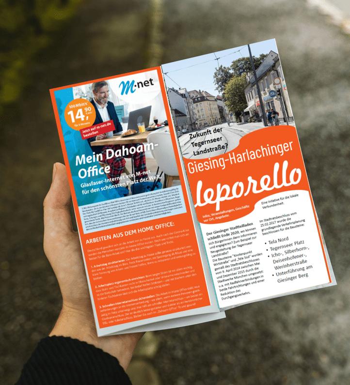 mit einem gedruckten Flyer erreichen Sie Ihre lokale Zielgruppe